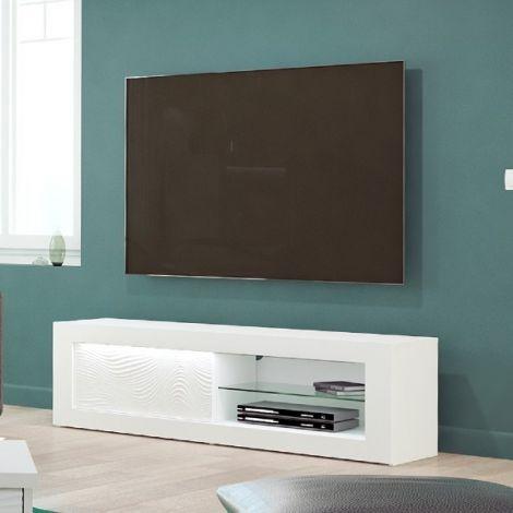 Meuble TV Kaia 170cm - blanc brillant