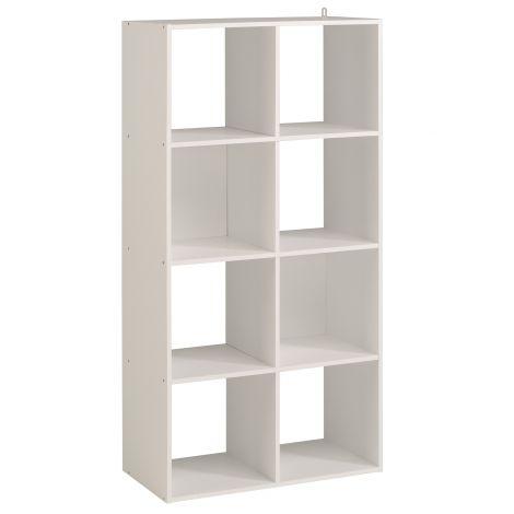 Armoire colonne Cubicub avec 8 niches - blanc