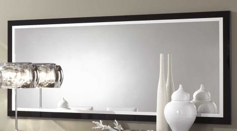 Miroir Roma 180 cm - noir/blanc
