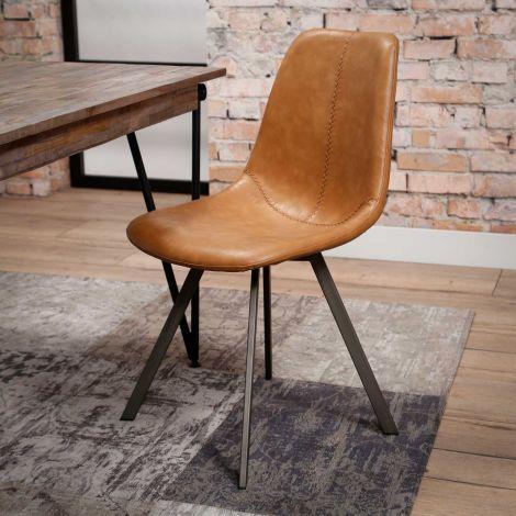 Set de 4 chaises Zigi - brun