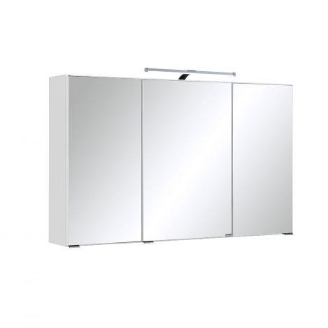 Armoire de toilette Bobbi 100cm modèle 2 3 portes & eclairage LED - blanc