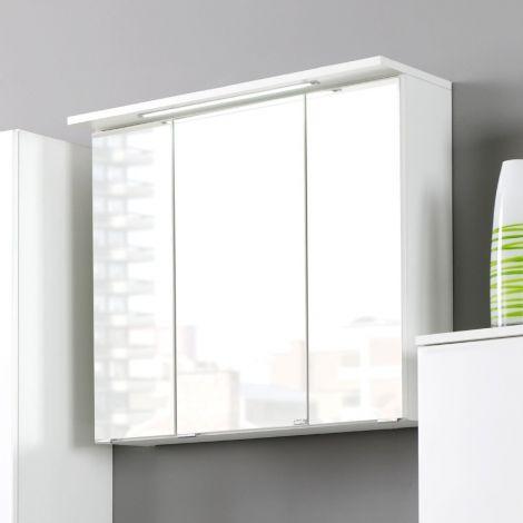 Armoire de toilette Bobbi 70cm modèle 1 3 portes & eclairage LED - blanc