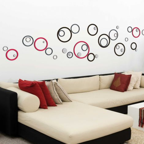 Stickers muraux 3D Circles - mousse