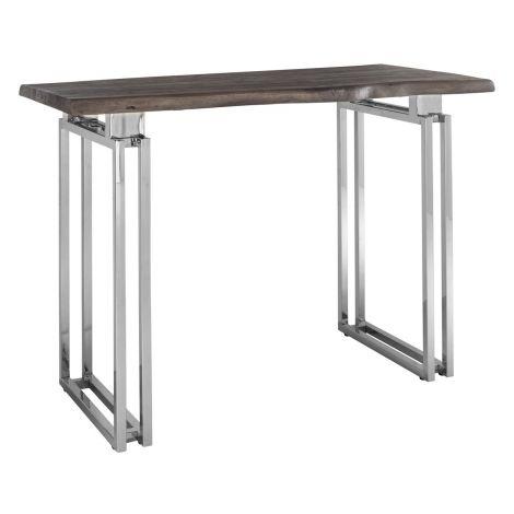 Table de bar Tuxedo 160x80 - brun/argent