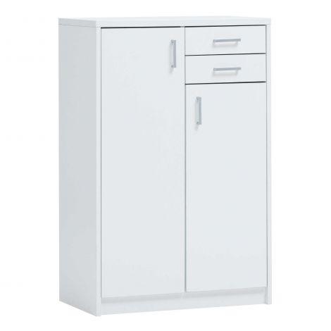 Commode Spacio 110cm 2 portes/2 tiroirs - blanc