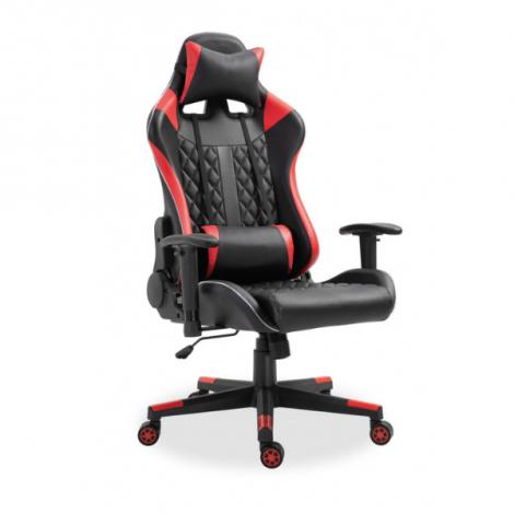 Chaise gamer Nate avec LED - rouge/noir