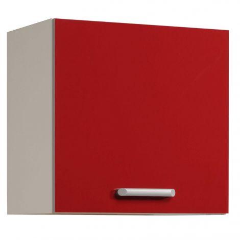 Élément haut de cuisine Rouge Brillant 60 cm - 1 porte