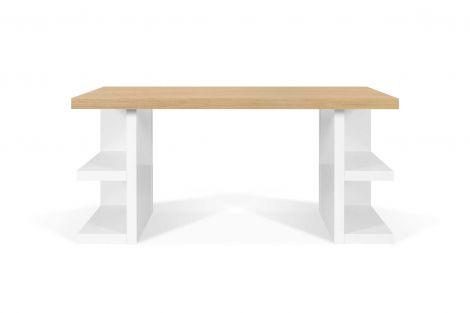 Bureau Multis 160cm - blanc/chêne