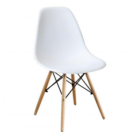 Jeu de 4 chaises Paulette - blanc