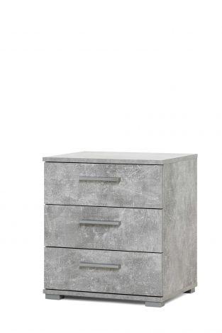 Table de chevet Elora 3 tiroirs - béton