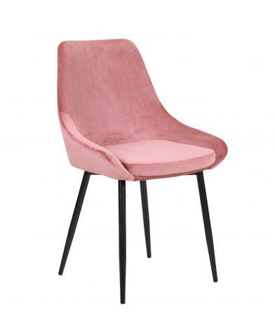 Lot de 2 chaises en velours Mirano - rose