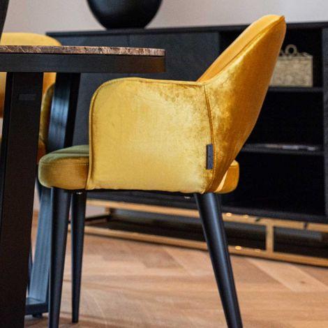 Chaise de salle à manger Giovanna - ocre