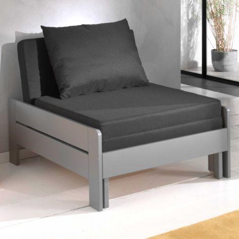 Canapé-lit Lena - gris