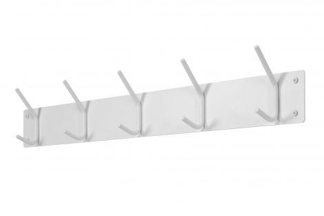 Portemanteau Fusion 5 crochets - blanc