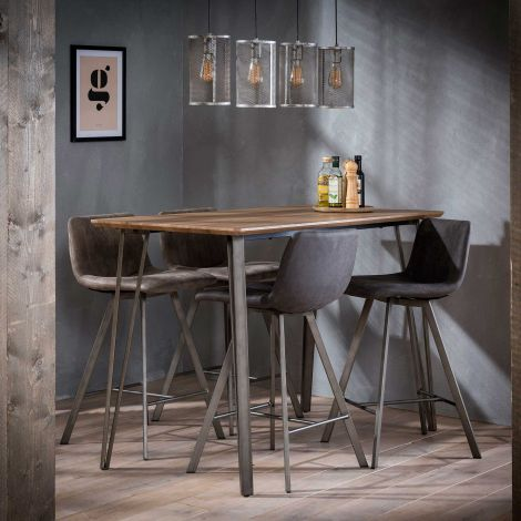 Table de bar Timor 140x70 - chêne