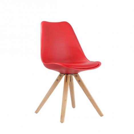 Lot de 2 chaises Lady - rouge