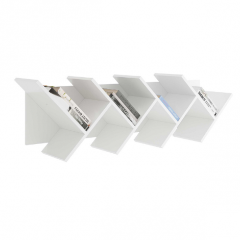 Bibliothèque Basil horizontale - blanc