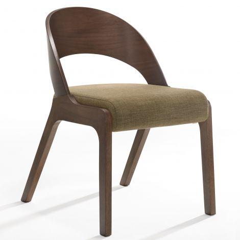 Jeu de 2 chaises Ulrike - noyer/brun