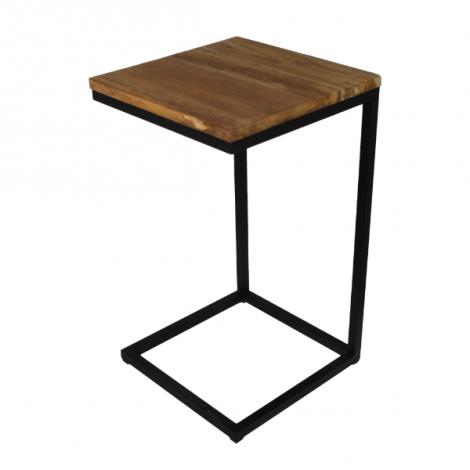 Table d'appoint Samu 35x35 - teck/fer