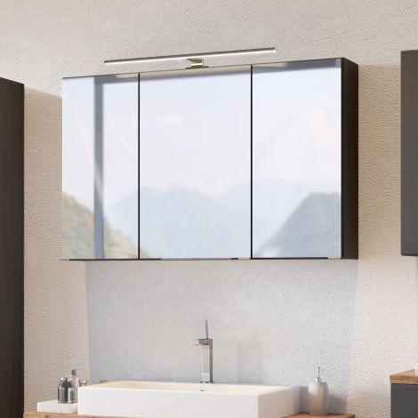 Armoire de toilette Pisca 100cm 3 portes - gris graphite