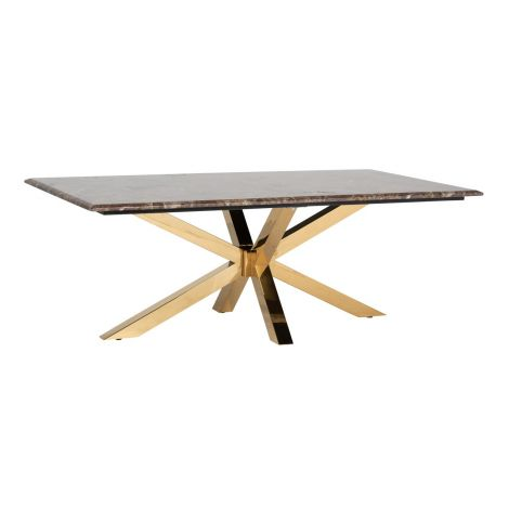 Table basse Kondor 130x70cm - marbre/or