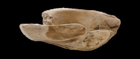 Coupe à fruits grande - ø38-45 cm - naturel - teck