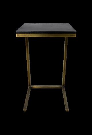 Table d'appoint Finnley 65cm - noir/or antique
