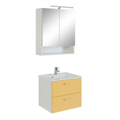 Ensemble Salle de bains Ricca 3 - blanc/jaune