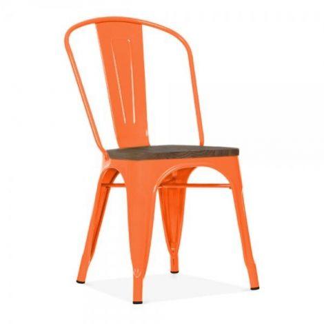 Ensemble de 4 chaises Victoria - orange