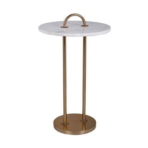Table d'appoint Dexterio ø36cm - or/blanc