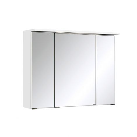 Armoire de toilette Bobbi 80cm modèle 1 3 portes & eclairage LED - blanc