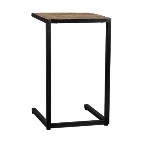 Table d'appoint Raffles 40x45 - brun/noir