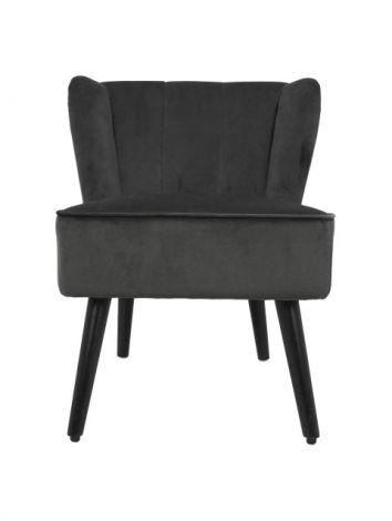 Chaise de cocktail Estelle - velours - gris foncé