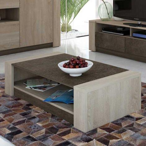 Table basse Ares 108x65 mélamine - brun