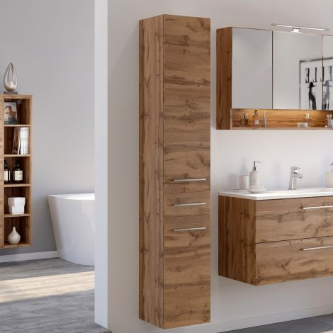 Colonne Sefa 30cm 2 portes & 1 tiroir - chêne wotan