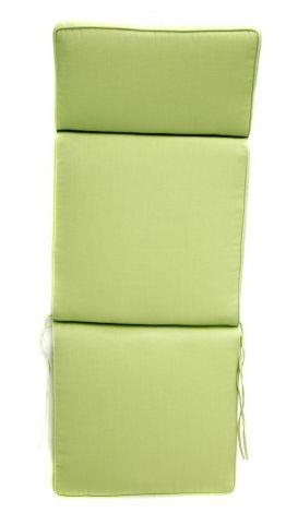 Coussin chaise de jardin réglable - vert