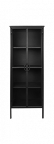 Vitrine Manhattan - métal / verre - noir