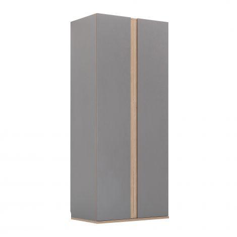 Armoire Birger 100 cm 2 portes - gris