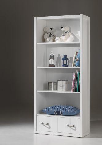 Bibliothèque Lewis 87cm avec tiroir - blanc