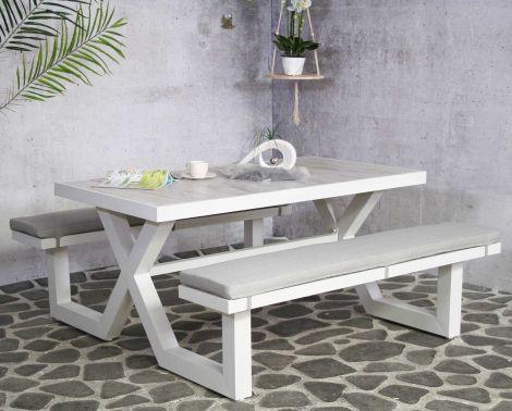 Table de pique-nique Cosmos - blanc