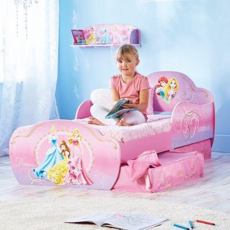 Lit junior avec tiroirs Princesses Disney