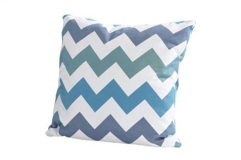 Coussin 50x50 - zigzag bleu