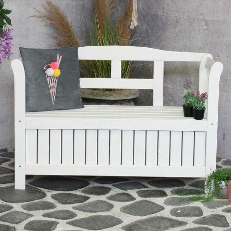 Banc de jardin avec rangement Walt - blanc