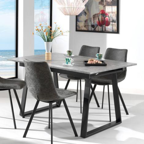 Table extensible Austria 180x90 industriel - béton