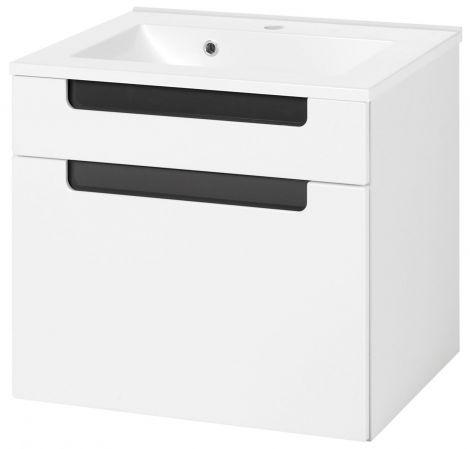 Meuble lavabo Siena 60cm - blanc/anthracite