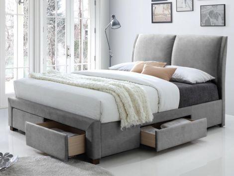 Lit Babano 140x200 - gris