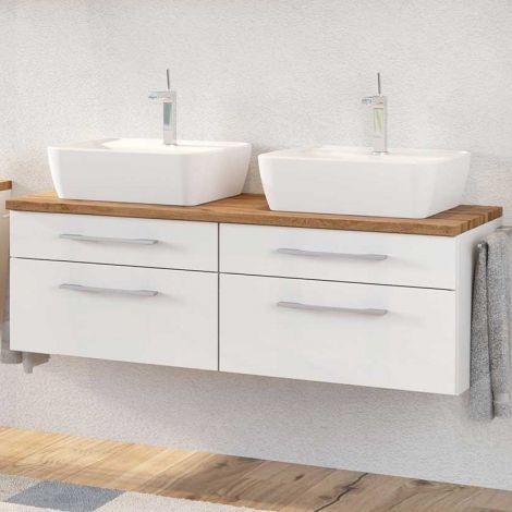 Meuble lavabo Dasa 120cm à 4 tiroirs - blanc