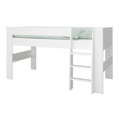 Lit mi-hauteur Skagen 90x200 - blanc