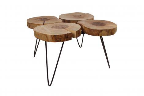 Table basse Roxy à 4 plateaux - naturel/noir