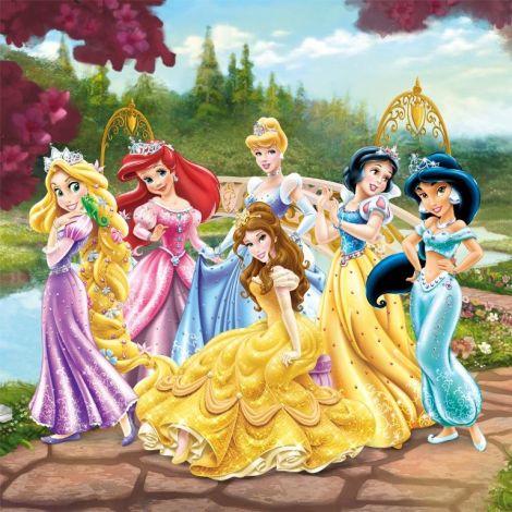 Tableau enfant Princesses Disney - Garden